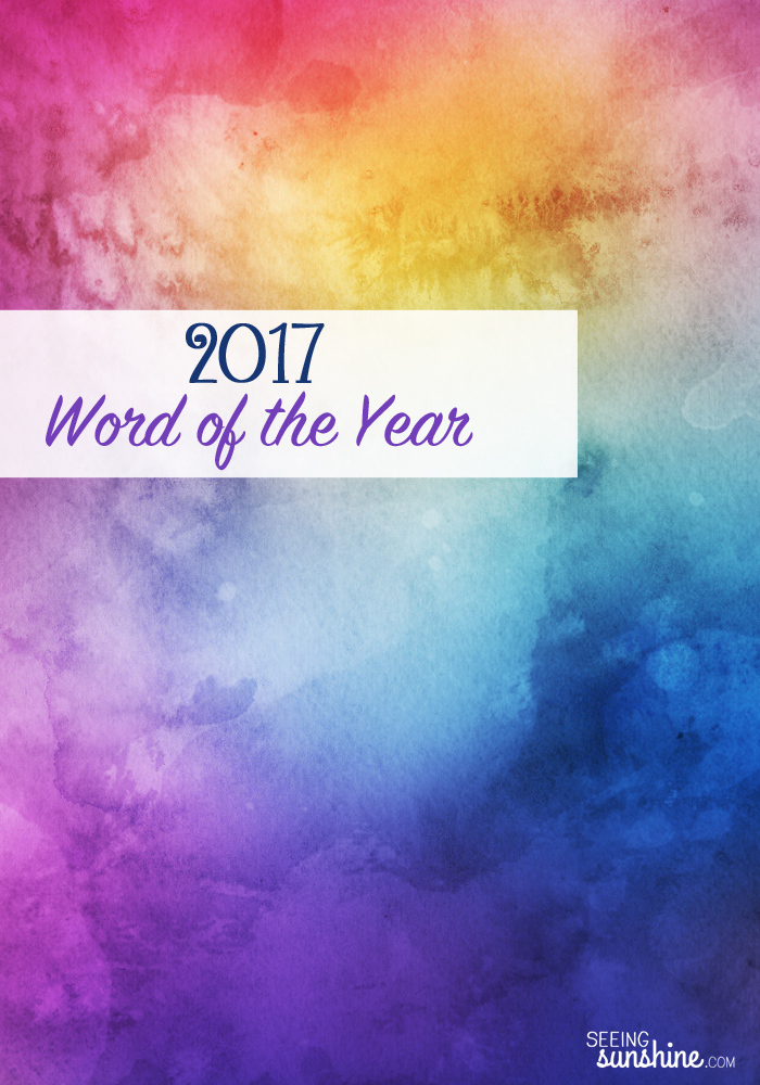 Check out my word for the year 2017!