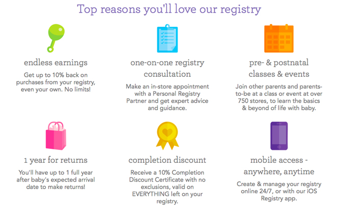 Check out the top two places we decided to registry for baby and why we chose them.