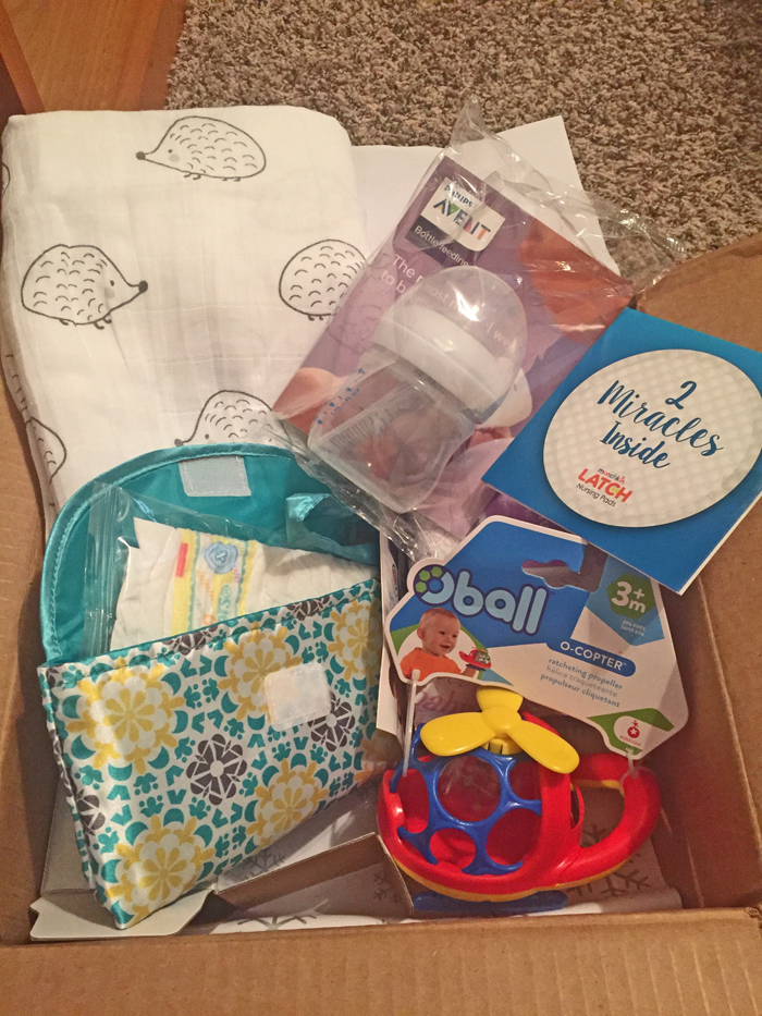 Here's just some of what I got in my Amazon Welcome Box after creating a baby registry as a Prime member.