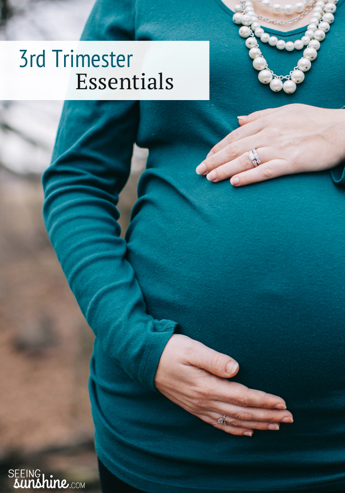 Check out these 3rd trimester essentials to help make those last few months more bearable!