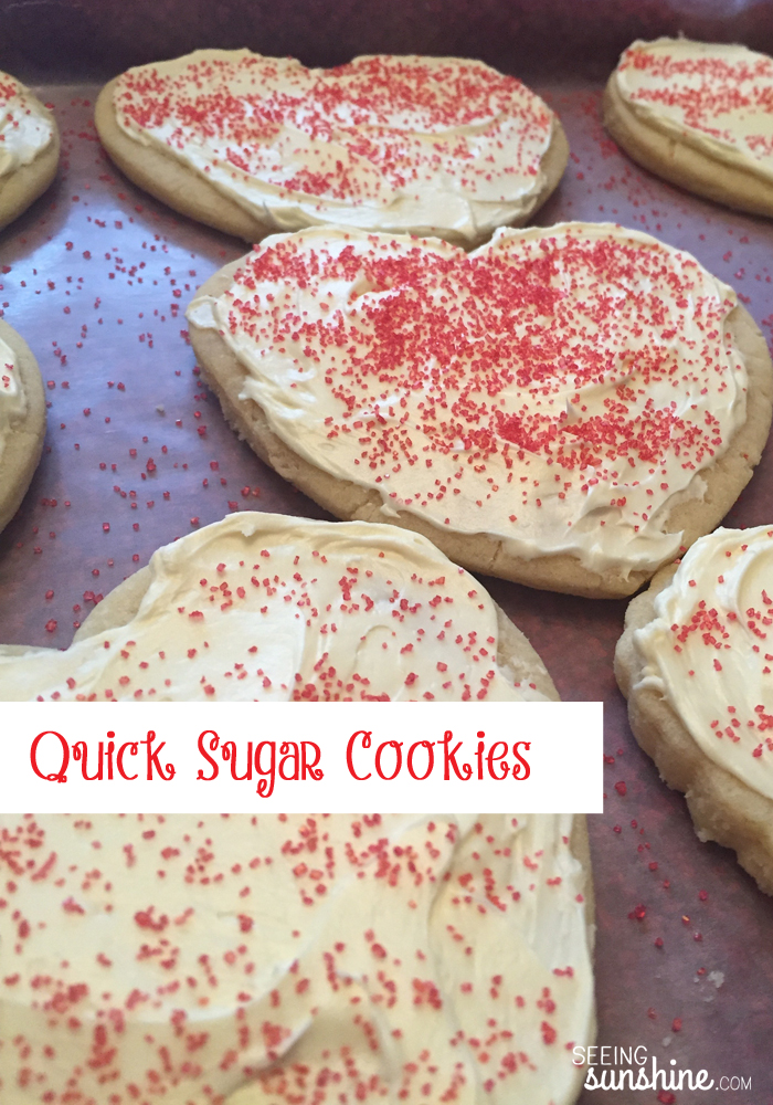 Check out this recipe for these quick and easy sugar cookies! They are so soft!