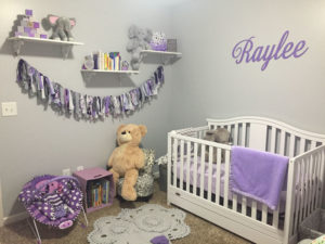 Purple and Grey Nursery