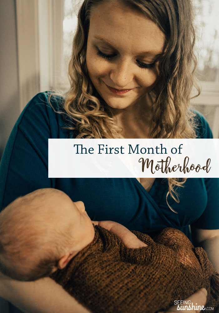 The first month of motherhood was just pure survival mode. But we got through it, and so can you.