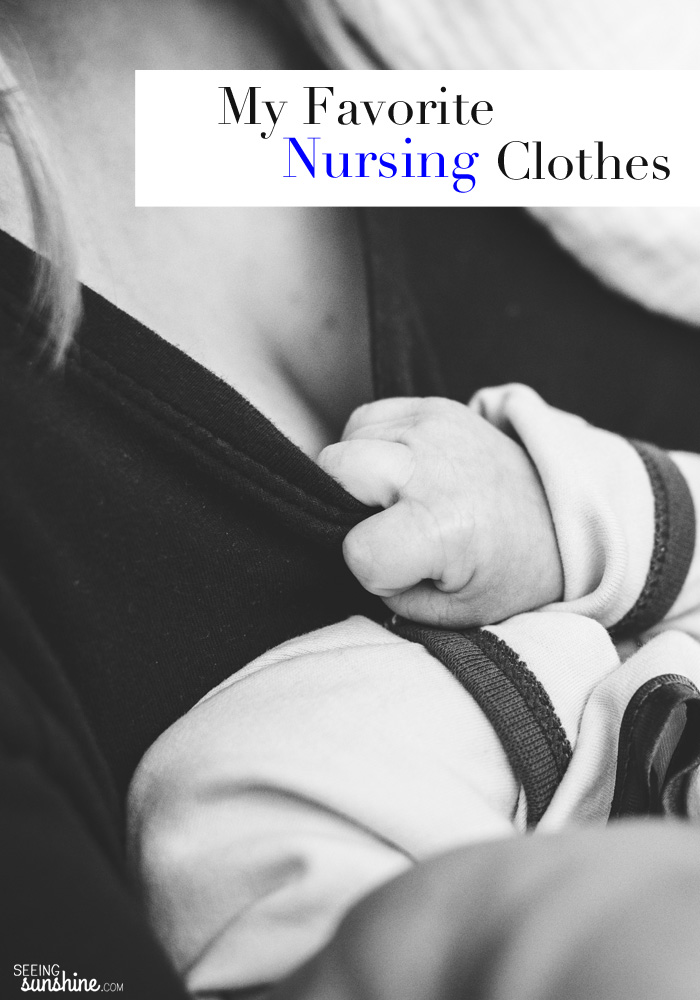Make breastfeeding easier by wearing these nursing clothes. Check out my favorite bras, tops, and more.