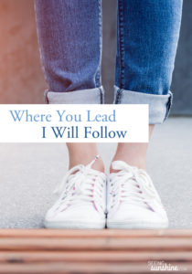 Where You Lead I Will Follow